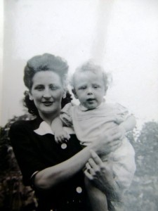 Eileen Dale with son John, 1946.