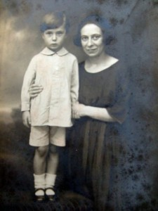 Ken Dale, aged about three, with Alice. Photographic studio shot, circa 1921.