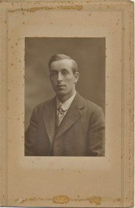 Bill Minchin in his younger days. This uncropped version comes courtesy of Simon Bartrum, whose grandmother Florence (1894-1987) was Bill's youngest sister