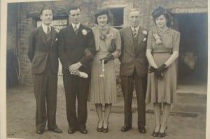 Best man Ken Buckingham, Ken, Eileen, Bill and Peggy
