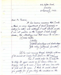 John Dale's letter to Mr Parsons