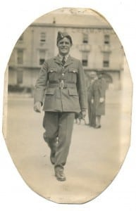 1942. Reg is 37 and serving in the Royal Air Force. The photo is dated in his hand, Monday 3rd August 1942 - Weston-super-Mare.