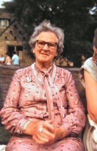 May in her later years in Bourton. She died in 1994 aged 101.