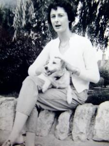 Susan stroking Judy