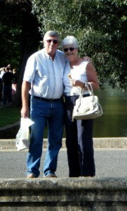 Susan and John at a reunion in Bourton 2012