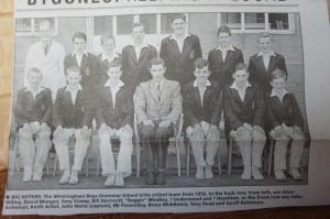 1956: John Waite as captain of under-14s cricket team