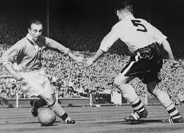 Did John wear the shirt of England legend Stanley Matthews, left?