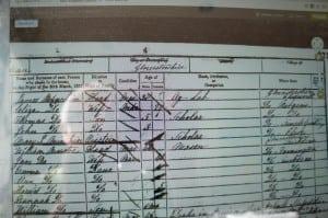 30 March 1851: Census shows James Minchin, Eliza, Thomas, John and XXX