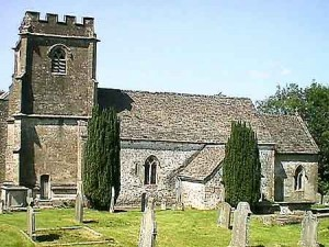 Daglingworth Parish Church where Charles Pitts and Anne Neale married on 1 August, 1846,