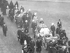Queen Victoria's funeral. She died on 22 January 1901 at Osborne.